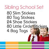 Sibling School Name Label Set