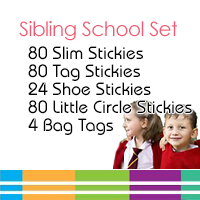 Sibling School Name Label Set